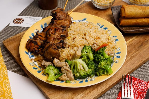 (2) Kabobs, Broccoli & Rice