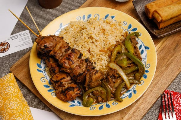(2) Kabobs, Pepper Steak & Rice
