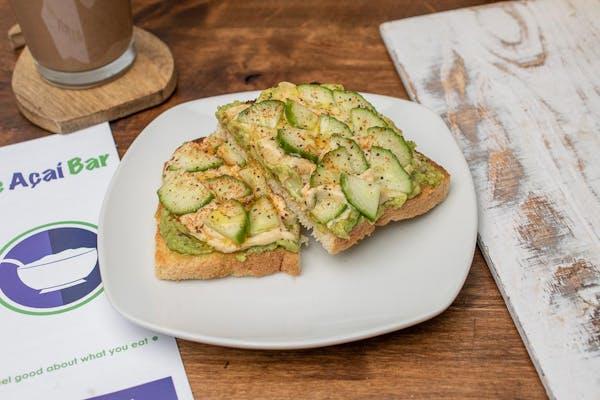 Kickin' Cucumber Toast