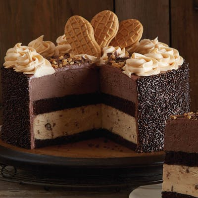 Peanut Butter Chocolate Brownie Overload Cake