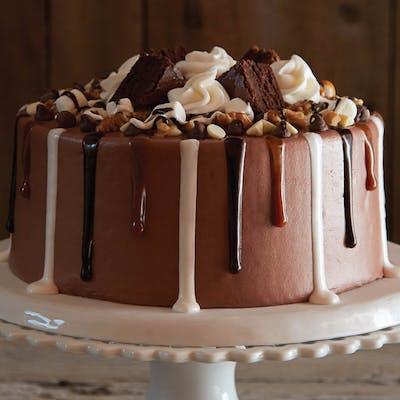 Chocolate Rocky Road Brownie Cake
