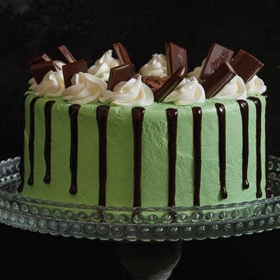 Mint Chocolate Meltdown Cake