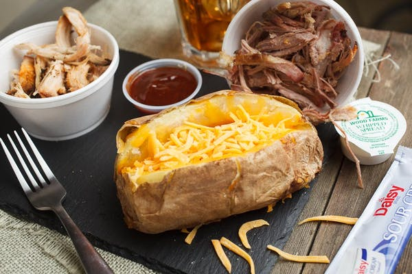 Loaded Baked Potato with Meat