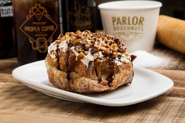 Turtle Cheesecake Croissant Donut