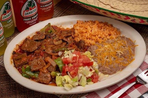 Bistec Ranchero Plate