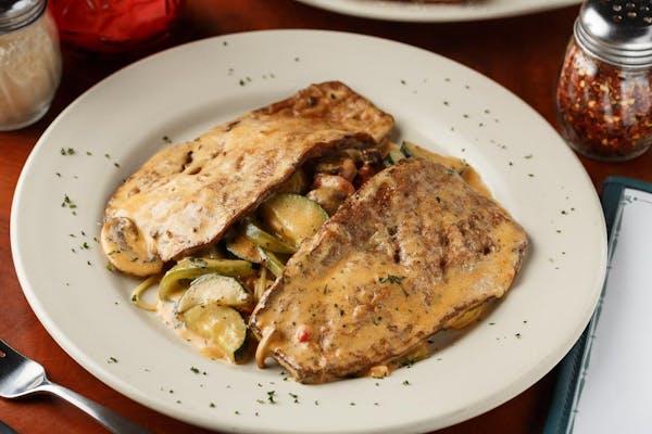 Chicken, Eggplant or Shrimp Primavera