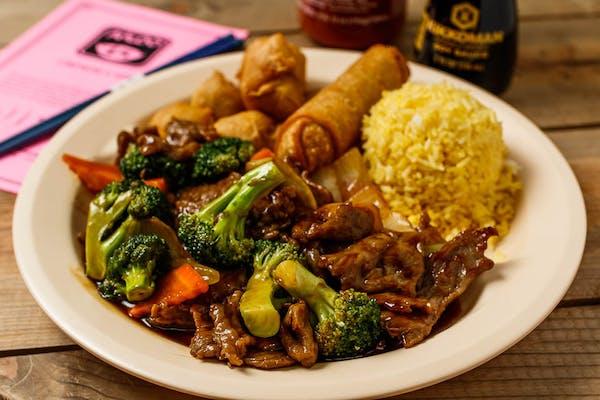 C3. Broccoli Beef & Sweet & Sour Pork