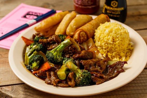 C11. Broccoli Beef & Sweet & Sour Chicken
