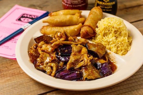 C18. Eggplant Chicken & Sweet & Sour Chicken