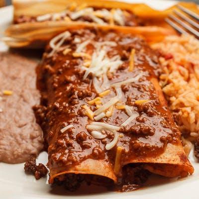 2. (2) Tamales & (1) Enchilada