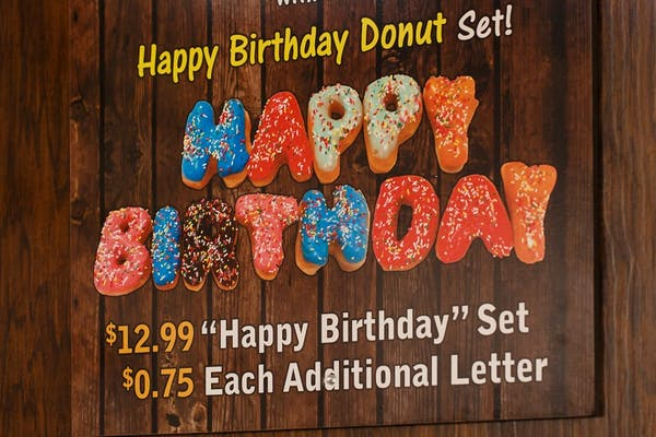 Happy Birthday Donut Set
