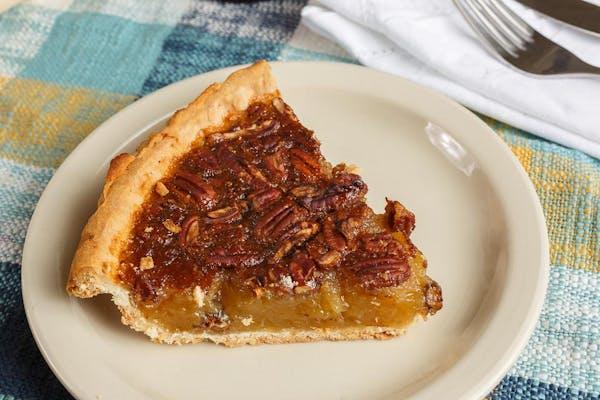 Southern Pecan Pie Slice