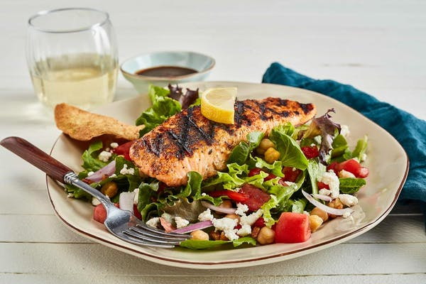 Mediterranean Salad with Salmon
