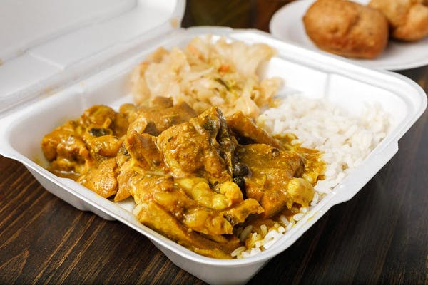 Curry Goat Combo Plate