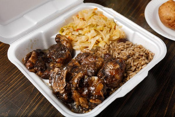 Stewed Oxtail Combo Plate