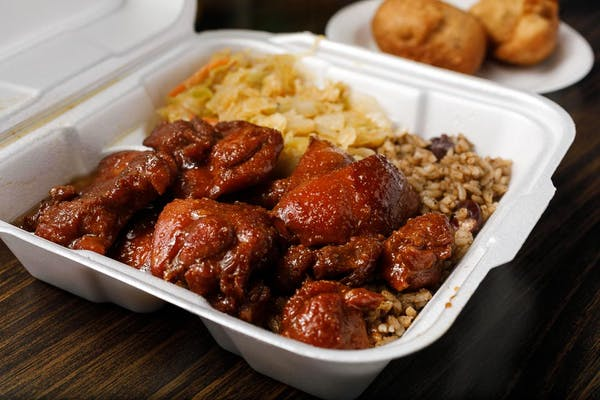 Brown Stew Chicken Combo Plate
