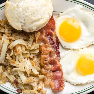 Small Breakfast on Broad Platter