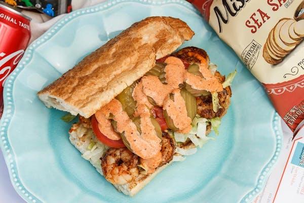 Grilled Shrimp Po-Boy Combo