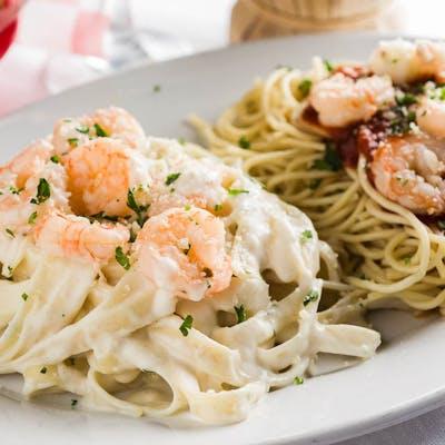 Shrimp Fettuccine Marinara Combo