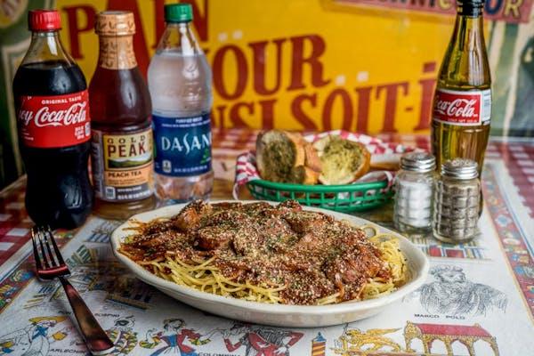 Italian Sausage Spaghetti Coca-Cola Combo
