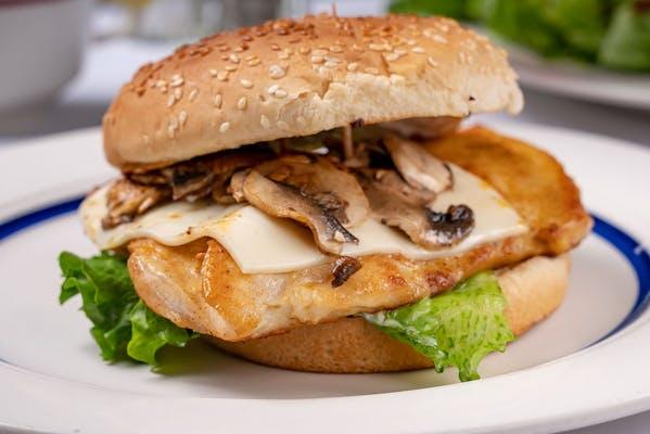 Chicken with Bacon & Swiss Sandwich