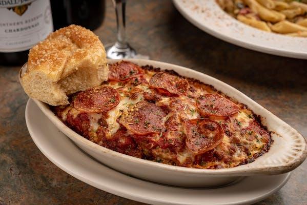 Meatball Mozzarella Bake Pasta