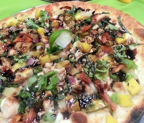 Caribbean Mango Pizza