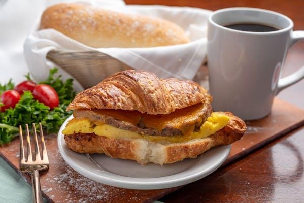 Sausage & Cheddar Breakfast Sandwich