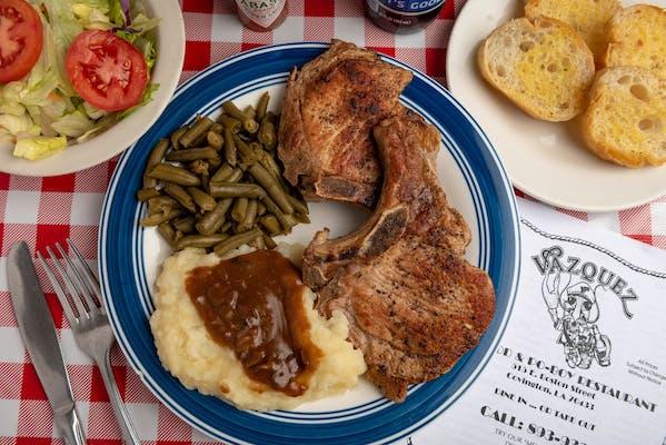 Grilled Pork Chops & (1) Side