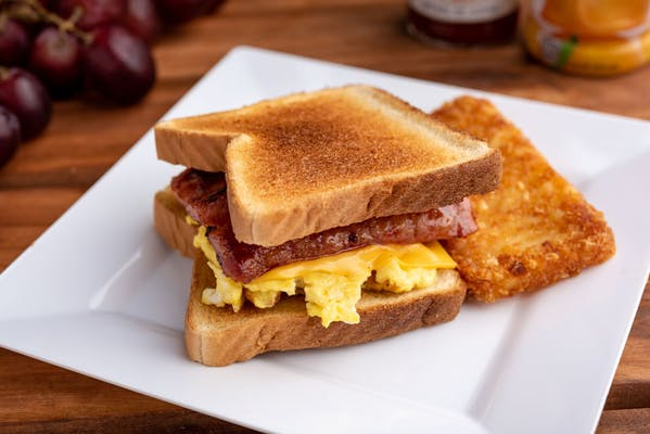 Conecuh Sausage, Egg & Cheese Sandwich