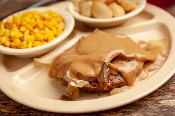 Large Hamburger Steak with Gravy & Onions