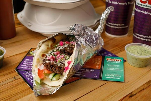 Veggie Falafel Gyro Sandwich