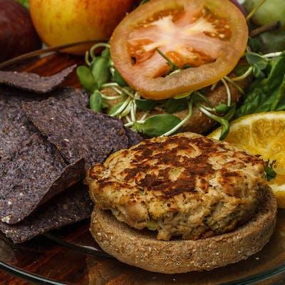 Housemade Tuna Patty Burger