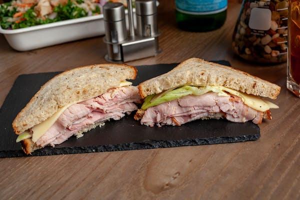 Rustic Ham & Swiss Sandwich