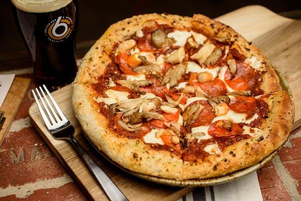 Mushroom Pepperoni Pizza