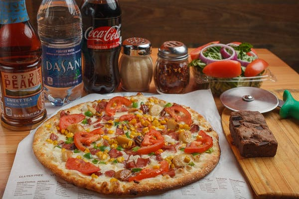 Create Your Own Pizza, Side Salad & Brownie Coca-Cola Combo