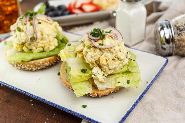 Egg Salad Bagel Sandwich