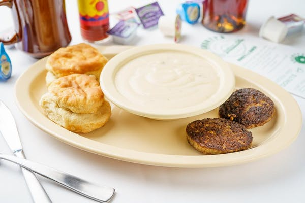 (1) Biscuit, (1) Sausage Patty & Gravy Plate