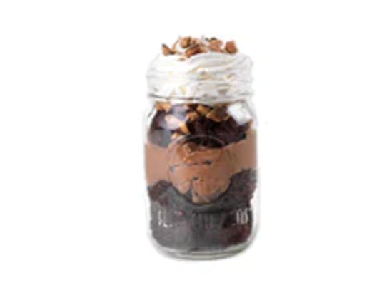 Chocolate Brownie Pudding Jar Dessert