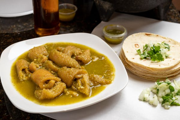 Chicharron en Chile Verde