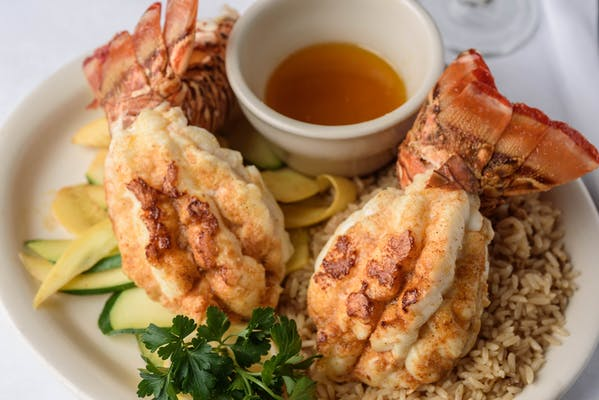Boiled Lobster Tails Dinner