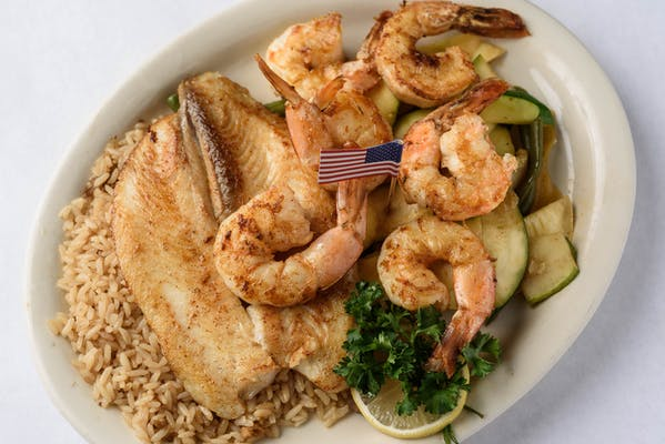 Grilled Red Snapper & Jumbo Shrimp