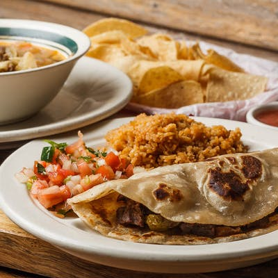 Soup & Fajita Taco