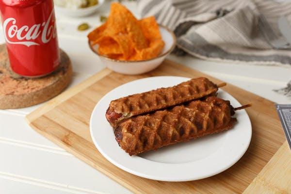Waffle Corn Dog Special