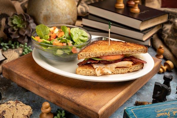 Half Sandwich and Small Salad