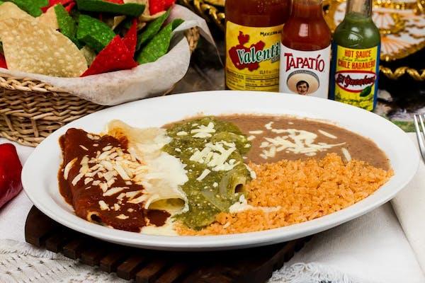 Mexican Flag Enchilada