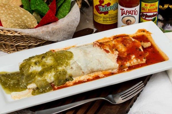 Mexican Flag Burrito