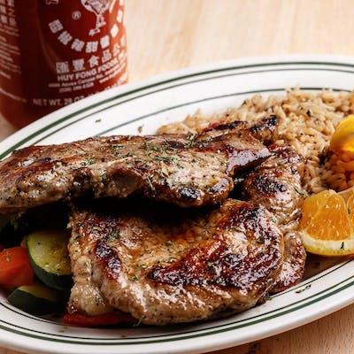 Grilled Pork Chop Dinner
