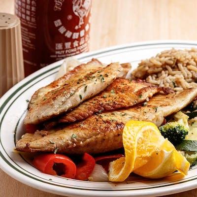 Chef's Grilled Flounder Dinner