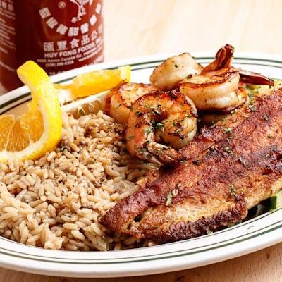Chef's Grilled Red Snapper & Shrimp Dinner